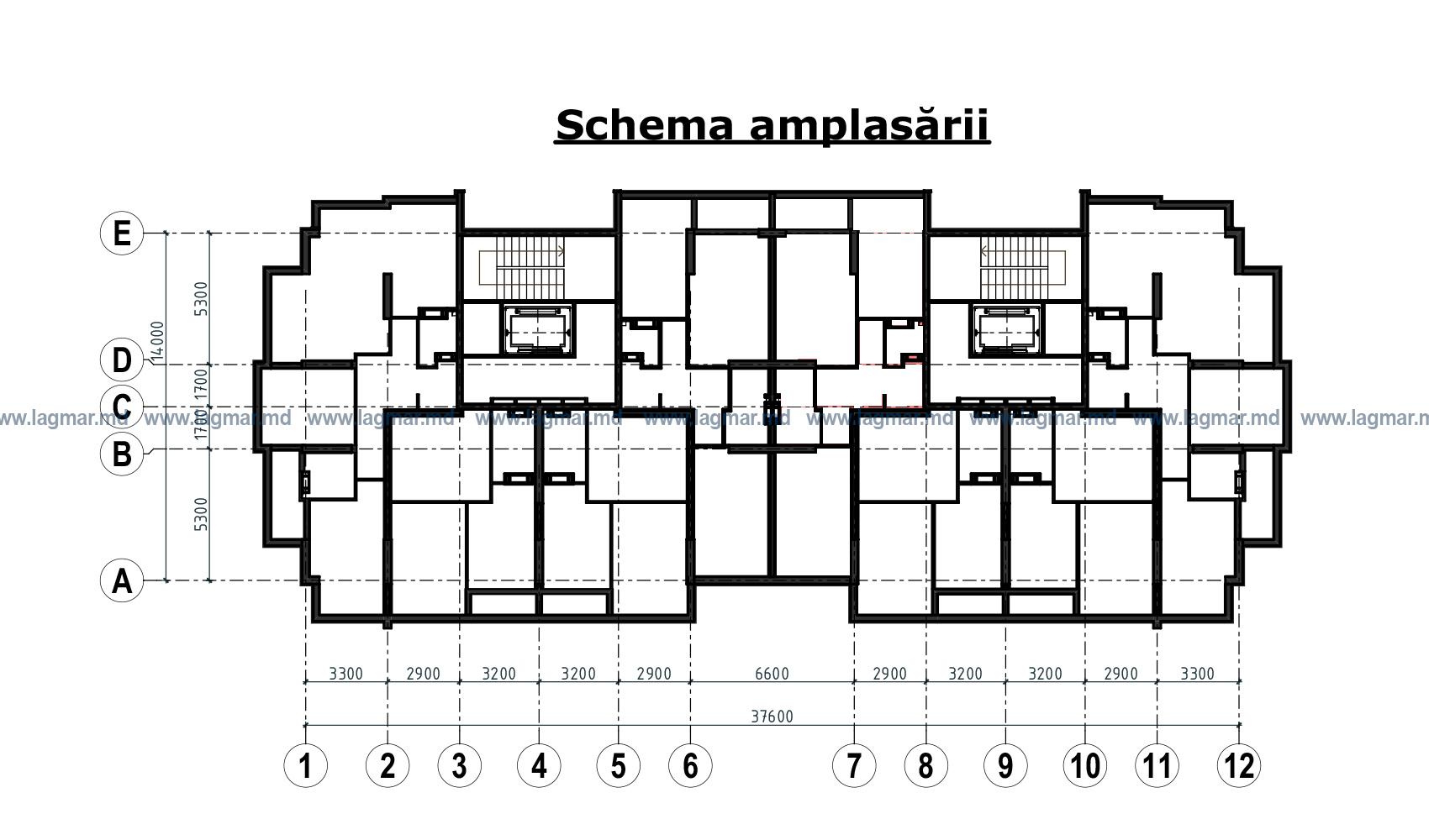 Plan bloc Florilor et. 1
