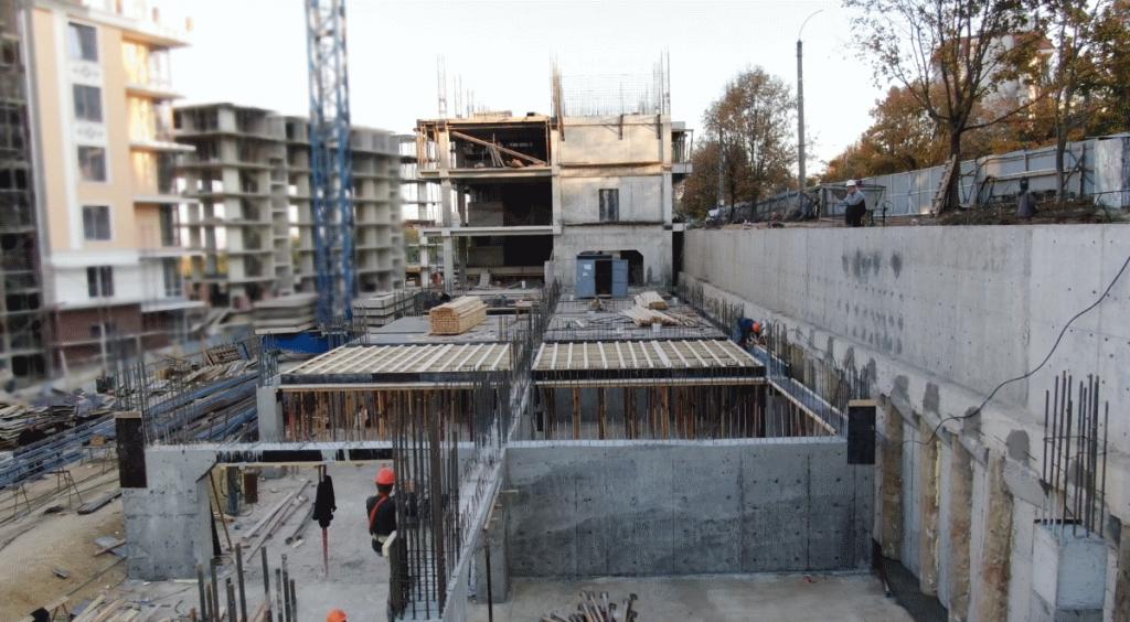 18.10.2018. Santier complexul locativ Deleanu, apartamente de vînzare, Chișinău