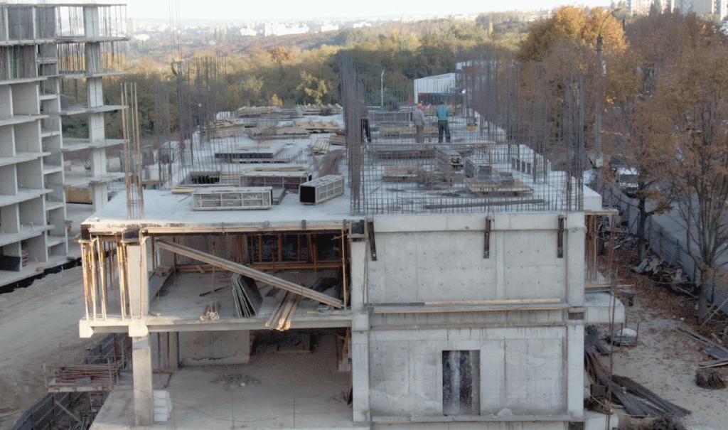 18.10.2018. Santier complexul locativ Deleanu, apartamente de la 444 euro/m2