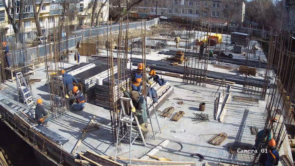 Șantierul blocului locativ de pe str. A. Doga 39/2
