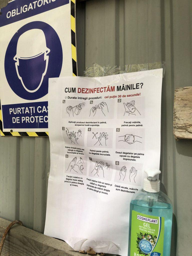 Siguranta lucrarilor la santierul Deleanu, 08.04.2020